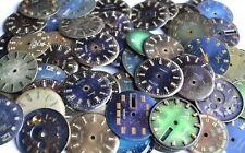 Lot of 80 Wrist Watch Metal Blue dials for Altered Art, Steampunk WWD 11