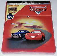 NEW! CARS Steelbook Edition (4K Ultra HD Disc + Blu-Ray + Digital) Disney Pixar
