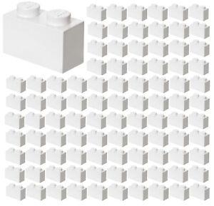 ☀️100x NEW LEGO 1x2 WHITE Bricks (ID 3004) BULK Parts City Building Ice Snow