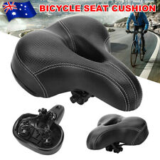 Road MTB Mountain Bike Bicycle Seat Saddle Wide Big Bum Sprung Pad Cushion Cover