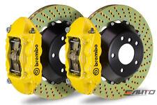 Brembo Rear GT Brake 4Pot Caliper Yellow 345x28 Drill Disc for STi Legacy GT 3.6