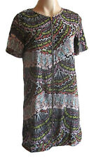 Daphnea Paris Short sleeved dress with a long zip down the front, Size M UK10/12