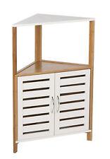 Muebles de Baño Bambú Madera Almacenamiento Esquina Suelo Armario Unidad