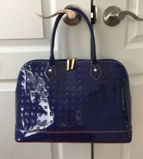 ARCADIA Handbag Italian Satchel Purple Patent Leather $300 Shoulder Bag