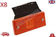 8x 24v LED Orange Side Marker Light Indicator Trailer Truck Lorry Van E Marked