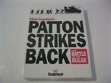 "Patton Strikes Back: The Battle of the Bulge new PC game 5.25"" disks"