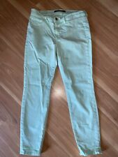 J BRAND Luxe Twill Julep Green Skinny Capri Cropped Jeans 29 Spring/Summer