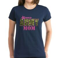 CafePress Camo Proud Army Mom Women's Dark T Shirt Womens T-Shirt (1269375009)