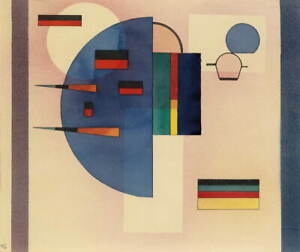 Wassily Kandinsky Beruhigt Calmed Poster Reproduction Giclee Canvas Print