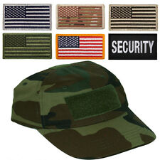 Camo hat special forces tactical operator cap with US flag patch