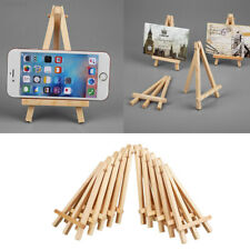Cd69 10pcs Mini Wooden Painting Name Card Craft Easel Stand Display Holder