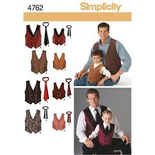 Simplicity Sewing Pattern 4762 Men & Boy's Special Occasion Vest Waistcoat & Tie