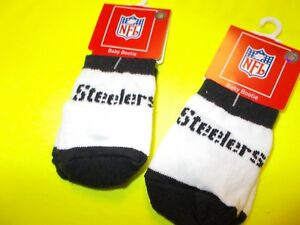 Pittsburgh Steelers Baby Socks - 2 Pairs with Free Shipping
