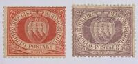 Travelstamps: San Marino Stamps Sc# 11-12 Mint Original Gum, Hinged, Remnant 20c
