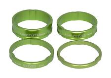 Bicicleta Headset Spacers 1.1/8 Steered Green Anodozed Aluminum 3/5/8/10mm. A2Z