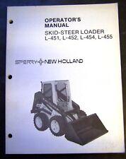 New Holland L-451, L-452, L-454, L-455 Skid Steer Operators Manual