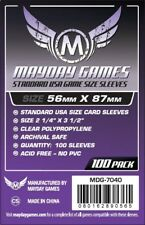 Mayday Games Standard USA Board Game Sleeves 56mm x 87mm - 100ct Pack MDG-7040