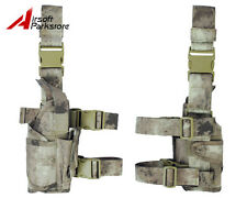 Tactical Military 1200D Pistol Gun Drop Leg Thigh Holster Pouch Right Hand ATACS