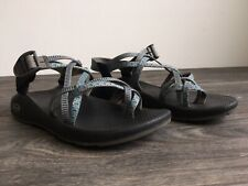 CHACO Zx/2 Sandals Strappy Blue Gray Water Hike Summer Vibram Shoe Women US 10