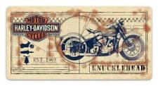 Harley-Davidson Knucklehead Print Embossed Tin Sign, 20 x 10 inches 2011991