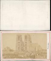 Belgique, Bruxelles, la Cathédrale Vintage CDV albumen carte de visite, CDV,