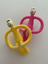 2 X Matchstick Monkey Teething Toy, Pink & Yellow