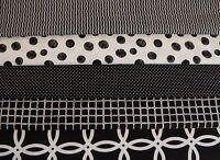 5 FQ BUNDLE  ~BLACK & WHITE~ (BUNDLE #1) 100% Cotton Quilt Fabric (Fat Quarter)