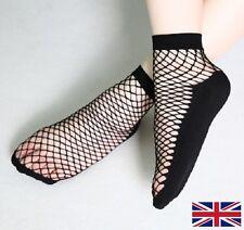 Women's Fishnet Socks Quality Elastic Black Polyester