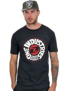 One Industries Throwback Icon Quality Cotton T-Shirt Black - Sale