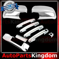 05-11 TOYOTA TACOMA Chrome Mirror+4 Door Handle w/KEYHOLE+Tailgate Camera Cover