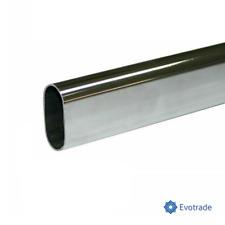 TUBO APPENDIABITI cromato 15x30mm - Lunghezza a scelta - Con SUPPORTI LATERALI