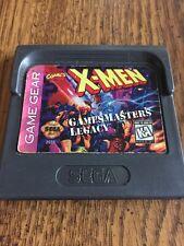SEGA GAME GEAR X-MEN XMEN GAMES MASTERS LEGACY MARVEL COMICS CARTRIDGE ONLY LOOK