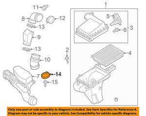 TOYOTA OEM Air Cleaner Intake-Hose Duct Tube Clamp 9046662002