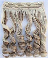 Clip in Hair Extensions Highlight Wavy Hair pieces #12/613 Brown & Blonde Hair