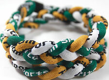 "Sale 18"" 3 Rope Twist Titanium Sport Necklace Green Gold White Tornado New"