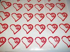 40 pc RED AUTHENTIC PLAY BOY HEART PEACE TANNING STICKERS TATTOOS BUNNY LOTION