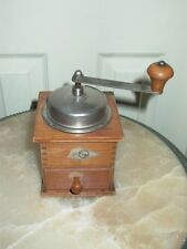 K&M Vintage Dovetail Wood Coffee Mill Grinder