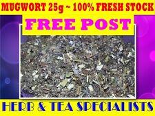 MUGWORT 25G TEA ☆ Artemisia vulgaris☆DRIED HERB☆RELAX☆REMEDY☆SAVE☆SUPER FRESH