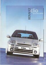 Prospetto/brochure RENAULT CLIO SPORT MODELLI