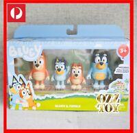 4 Figure Set ~ BLUEY, Bingo, Chilli & Bandit Family Figurine Toy - Not Plush