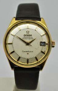 Omega Constellations PiePan ref:168.025 cal 584 gold capped automatic