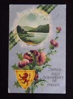 Vintage Used Postcard Scotland - AULD ACQUAINTANCE - Edward Vll Stamp posted1909