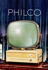 1950'S MID CENTURY ADVERT FOR PHILCO PREDICTA TELEVISIONS A3 POSTER REPRINT