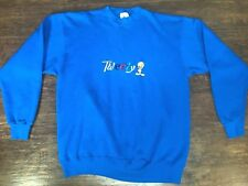 Vintage Mickey and Co. Loony Tunes Tweety Bird Blue Embroidered Sweater Size XL