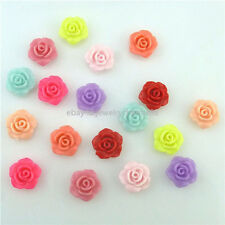 15631 100PCS Mix Colorful Flower Gorgeous Rose Flower Acrylic Spacer 13mm Beads