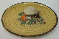 Vintage Lefton Retro Mushroom Appetizer Hors d'oeuvres Serving Tray Plate Japan