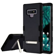 FOR SAMSUNG GALAXY NOTE 9 FULL BLACK TUFF SHOCKPROOF STAND CASE COVER