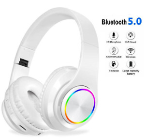 Wireless Headphones Bluetooth Noise Cancelling Stereo Earphones Over Ear Headset