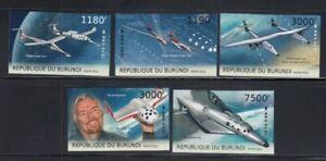 BURUNDI Space Travel MNH set
