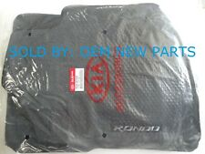 New OEM Kia Rondo Floor Mat Set Black Round Grommet Holes P8140-1D211-WK